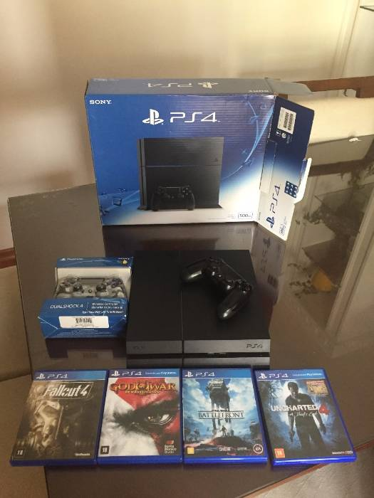 Playstation 4 500gb 2 Controles 4 Jogos Comple