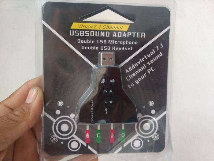 Placa De Som Usb Para Pc Ou Notebook